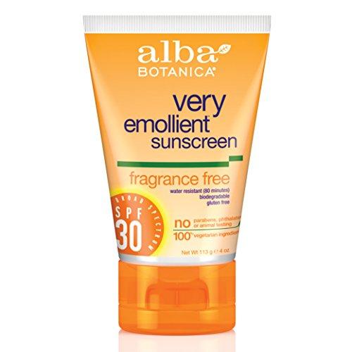 Alba Botanica Fragrance Free Spf 30 Very Emollient Sunscreen, 4 Ounce Tube
