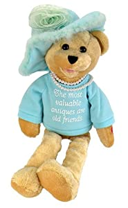 "Chantilly Lane Pearl's Wisdom 19"" T-Shirt sings ""That's What Friends Are For"" (Teal) by Chantilly Lane"