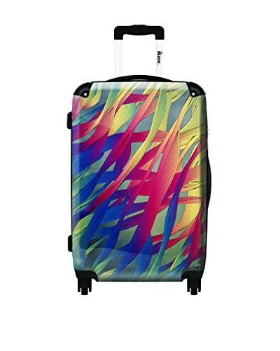 Ikase Modern Aquatic Rolling Luggage, Multi, 10X16X24