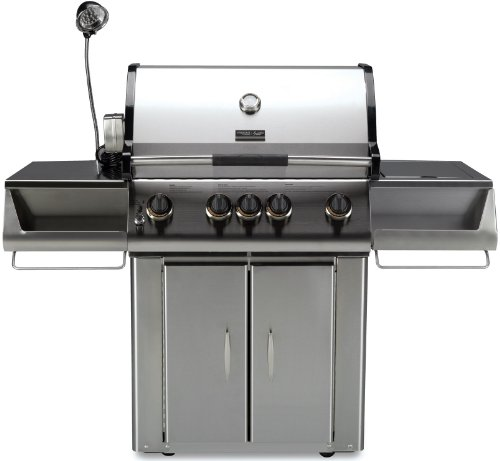 Stainless Steel Four Burner BBQ Grill - Natural Gas