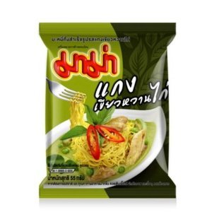 Instant Mama Noodles Thai Chicken Green Curry Flavor - Pack of 2