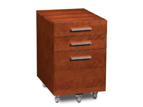 Bdi Sequel Low Mobile Pedestal 6007 - Natural Stained Cherry front-617668