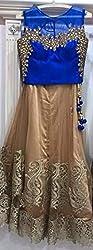 Shree Ganesh Women's Designer Multi-Coloured Silk Semi-Stitched Lahenga Choli [L113 (4)_Multi-Coloured]