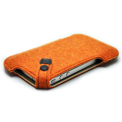 ハンドメイドフェルトケース for iPhone4s オレンジ
