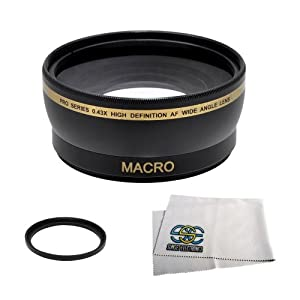 Extra Large Wide Angle Lens With Macro Lens For The Sony Alpha SLT-A33, A35, A37, A55, A57, A58, A65, A77, A77 II, A99, A100, A200, A230, A290, A300, A330, A350, A380, A390, A450, A500, A560, A550, A700, A850, A900, A6000, A5100, A5000, A3000, A7, A7s, A7r Digital Cameras which works with the following 55mm Lenses 18-55mm, 55-200mm, 18-70mm, 35mm f/1.4G, 35mm f/1.8, 50mm f/1.4, 50mm f/2.8, 85mm f/2.8, 100mm f/2.8 Lens