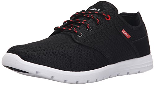 C1RCA Men's Atlas Skate Shoe, Black/White, 9.5 M US