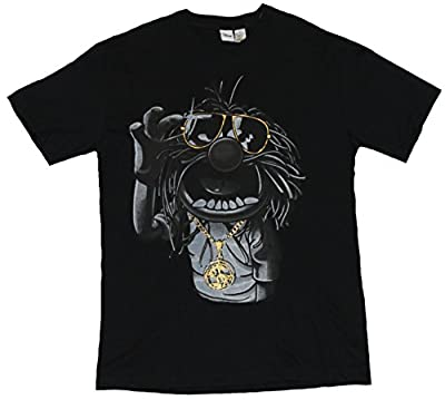 The Muppets Mens T-Shirt - Animal Sunglasses Wearing Blinged Out Image