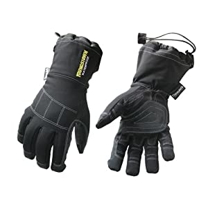 Youngstown Glove Co. 05-3430-80-S Waterproof Gauntlet XT Performance Glove Small, Black