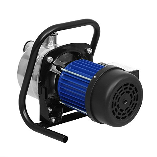 1.6HP Automatic ON/OFF Pool Water Cover Pump, Portable Shallow Well Jet Pump Lawn Sprinkling Booster Pump Irrigation Water Supply for Home Garden (US Stock)
