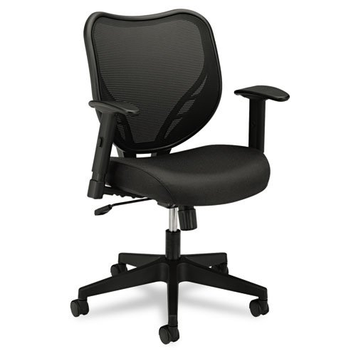 HON HVL551 Mid-Back Work Chair for Office or Computer Desk, Black