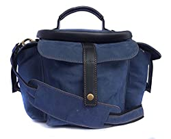 Genuine Leather Bag for Canon EOS 5D Mark 3 22.3MP DSLR Camera (#MN_BLUE)