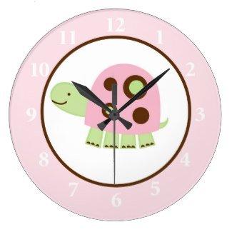 все цены на  Pink Laguna Turtle Round Wall Clock  в интернете