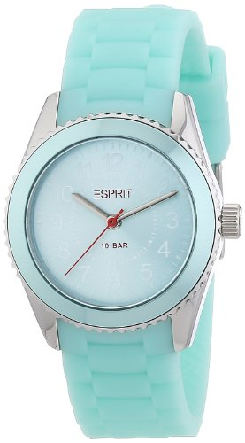 Esprit mini marin 68 ES106424004 - Reloj analógico de cuarzo unisex, correa de resina color verde
