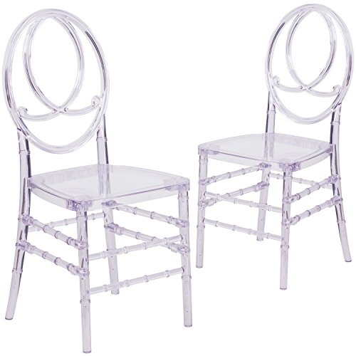 Flash Furniture Elegance Crystal Ice Stacking Phoenix Chair (2 Pack)