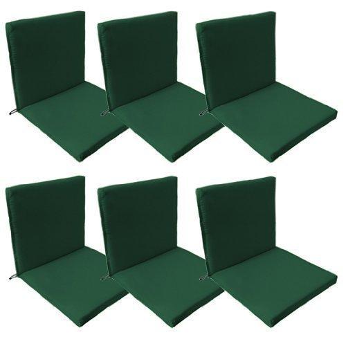 Gardenista - Gartenmöbel Sitzkissen Wasserfest 6er Set - Grün