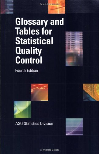 Glossary and Tables for Statistical Quality Control, Fourth Edition (Statistical Tables compare prices)