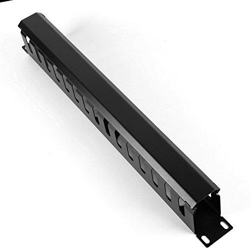 HAMSWAN-Horizontale-Kabelmanagement-Kabelmanager-Serverschrank-Rack-Mount-1U-19-Zoll-Metall
