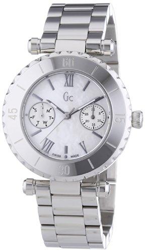 Guess  I20026L1S - Reloj de cuarzo para mujer, con correa de acero inoxidable, color plateado