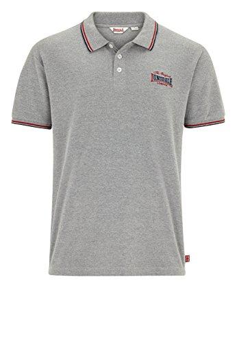 Lonsdale -  Polo  - Uomo grigio (marl grey) Small