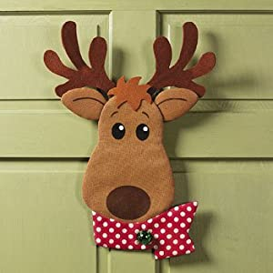 Amazon.com: Painted Burlap Reindeer Wall Decor - Holiday ...