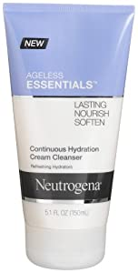 Neutrogena Ageless Essentials Continuous Hydration Cream Cleanser, 5.1 Ounce (Pack of 3)