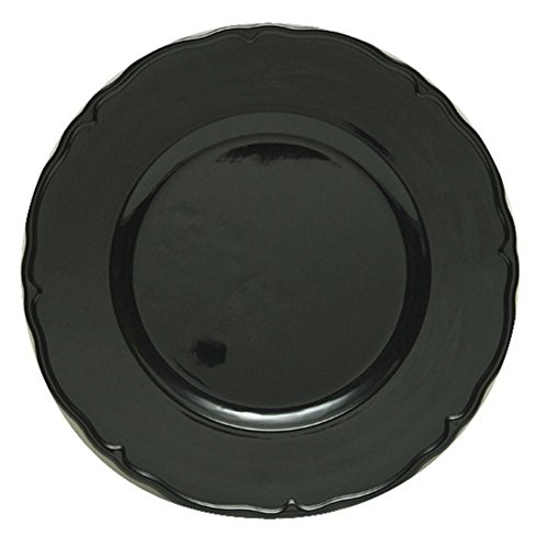 The Jay Companies Regency Charger Plate, Black (The Jay Companies compare prices)