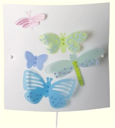 Aplique para Pared Decorado con Mariposas