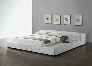 luxus bond lederbett doppelbett ehebett bond leder bett weiss 180 x 200 cm passend f r. Black Bedroom Furniture Sets. Home Design Ideas