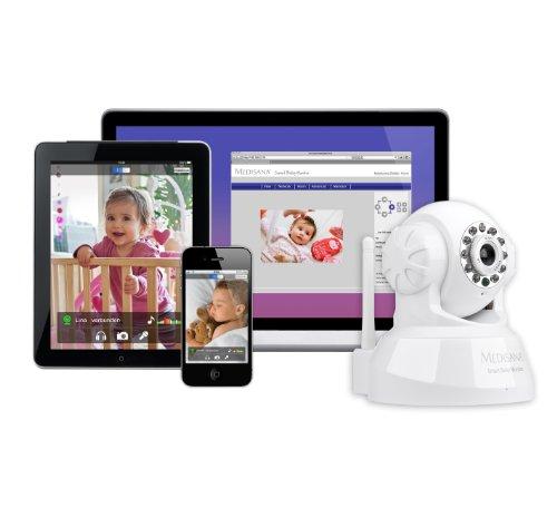 Nach oben Medisana Smart Baby Monitor (Audio- und Videoüberwachung mit Smartphone, Tablet, PC/MAC)