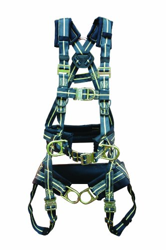 Elk River 95695 Firemaster Tower Qc Kevlar 6 D-Ring Harness With Quick Connect Buckles And Fall Indicator, 2X-Large front-214435