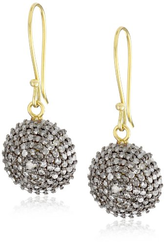 Jordan Alexander Pave Diamond Half-Ball Earrings