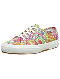 Womens Superga 2750 Liberty Cotton Retro Low Top Summer Sneakers - Multi Floral - 7.5