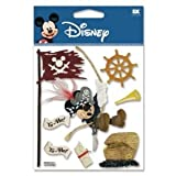 12 Pack DISNEY 3D STIX PIRATE MICKEY Papercraft, Scrapbooking (Source Book)