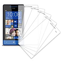 MPERO Collection 5 Pack Of Clear Screen Protectors For HTC Windows Phone 8S