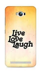 Amez Live Love Laugh Back Cover For Asus Zenfone Max ZC550KL
