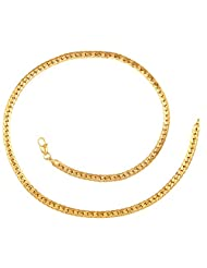 YoFashion 22K Gold Plated Classic Curb Chain 18.1""