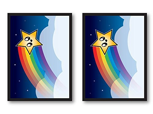 100 Rainbow Star Deck Protectors Legion Supplies Matte Finish Sleeves 2-Packs - Standard Magic the Gathering Size - 1