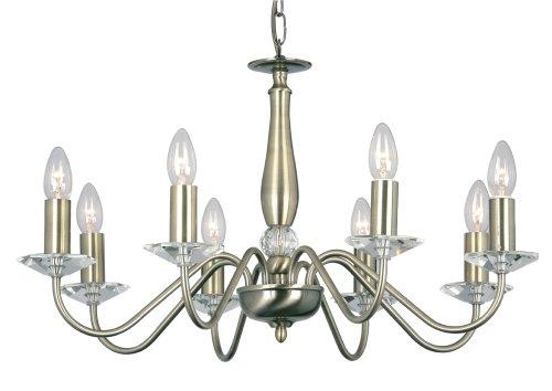 Oaks Lighting 8 Light Vesta Ceiling Fitting, Antique Brass