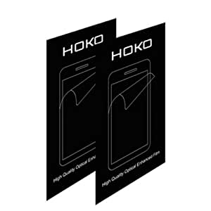 HOKO® Sony Z1 Compact Screen Protector, [HD Clear] [Three Layer] [PET Screen Guard Not Tempered Glass] [Rainbow free] Screen Guard for Sony Xperia Z1 Compact - Pack of 2