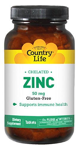 Country Life Zinc Amino Acid Chelate Tablets, 100 - Count