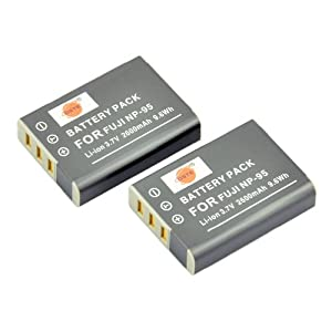 DSTE 2pcs NP-95 Rechargeable Li-ion Battery for Fuji FinePix REAL 3D W1, X100, X100S, X-S1 Digatal Camera