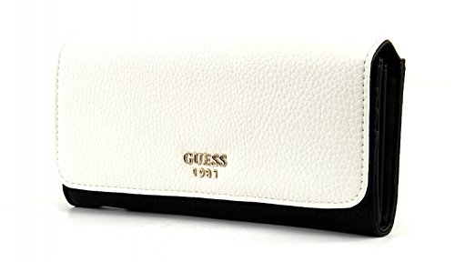 GUESS Cate Large Flap Organizer White Multi