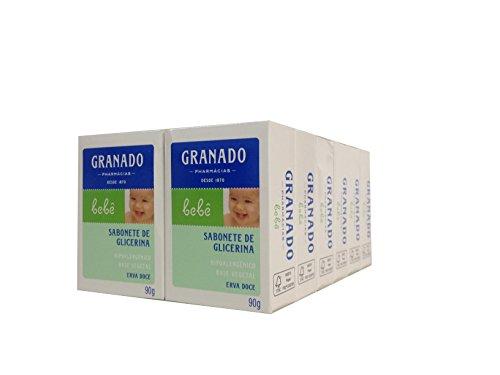 Linha Bebe Granado - Sabonete em Barra de Glicerina Erva-Doce (12 x 90 Gr) - (Granado Baby Collection - Fennel Glycerin Bar Soap Net (12 x 3.2 Oz))