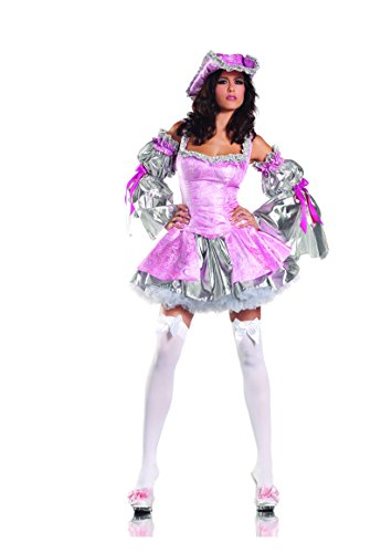 [Adult Women's 4 Piece Sexy Lady Marie Antoinette Halloween Party Costume] (Aristocrat Halloween Costume)