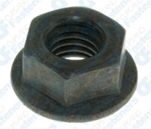 50 M8-1.25 Hex 17mm O.D. Flange Nuts 13mm Hex