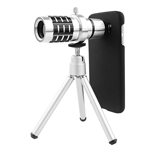 Apexel Samsung Galaxy S6 12x Manual Focus Telephoto Camera Lens Kit with Mini Tripod/ Hard Back Case for Samsung Galaxy S6