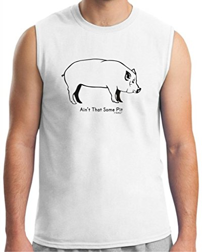 Ain'T That Some Pit Funny Bbq Barbeque Sleeveless T-Shirt Large White