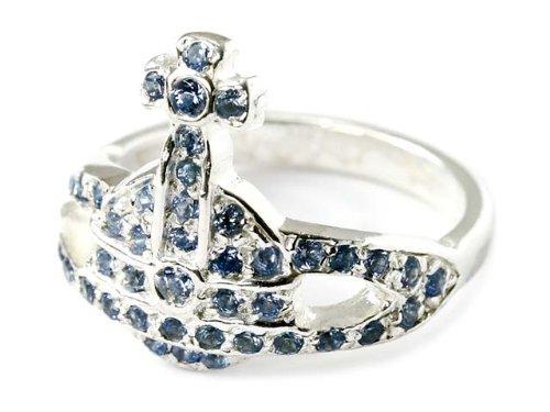 Vivienne Westwood ヴィヴィアンウエストウッド ミニオーブリング mini orb ring 90876 090 BLUE ブルー 指輪 サイズ15-16号 [並行輸入品]