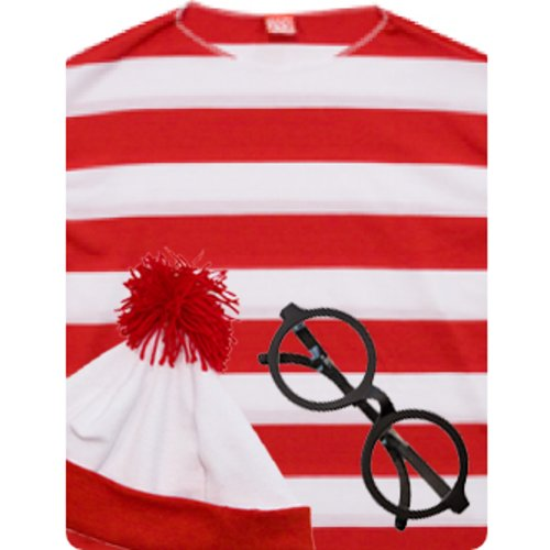 Adult Wheres Waldo Costume (Size: Standard 44)