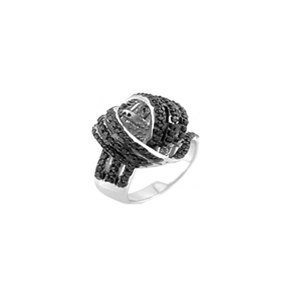 Sterling Silver Black Beauty Fancy Ring, Crafted with High Quality Cubic Zirconia, Special Limited Time Offer Super Sale Price, Comes with a Free Gift Pouch and Gift Box